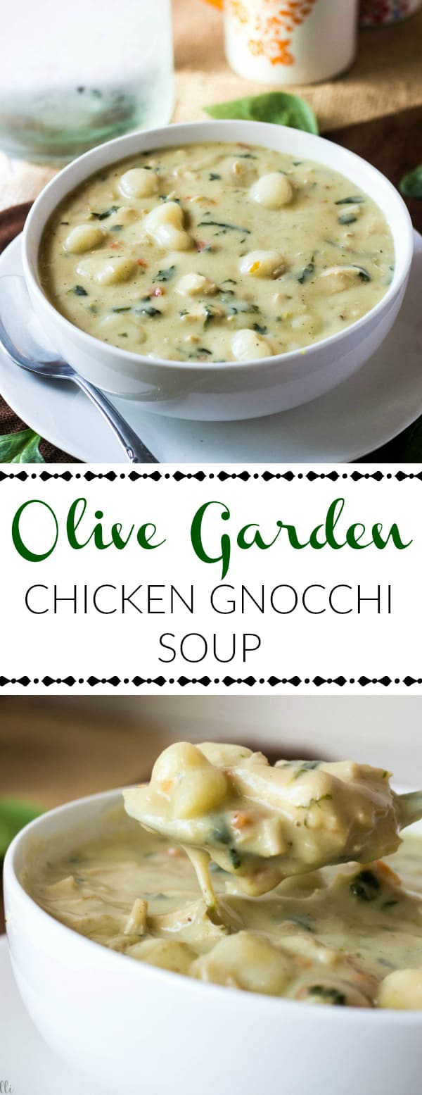 Olive Garden Chicken Gnocchi Soup {The Perfect Olive Garden Copycat}