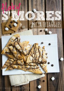 S'mores Pizza Triangles - I Wash You Dry