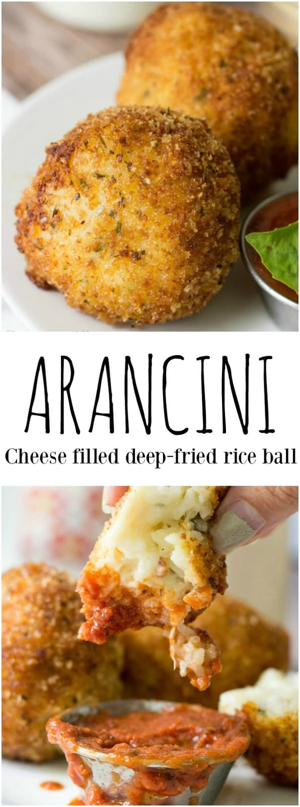 Want a delicious and filling appetizer that can be made into a meal? This Arancini recipe is an Italian classic made of deep fried rice and cheese, a dish that you cannot resist! #rice #cheese #italian #deepfried #appetizers