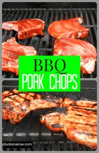 BBQ Pork Chops Collage