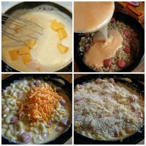 Baked Velveeta Mac and Cheese Collage tornadoughalli
