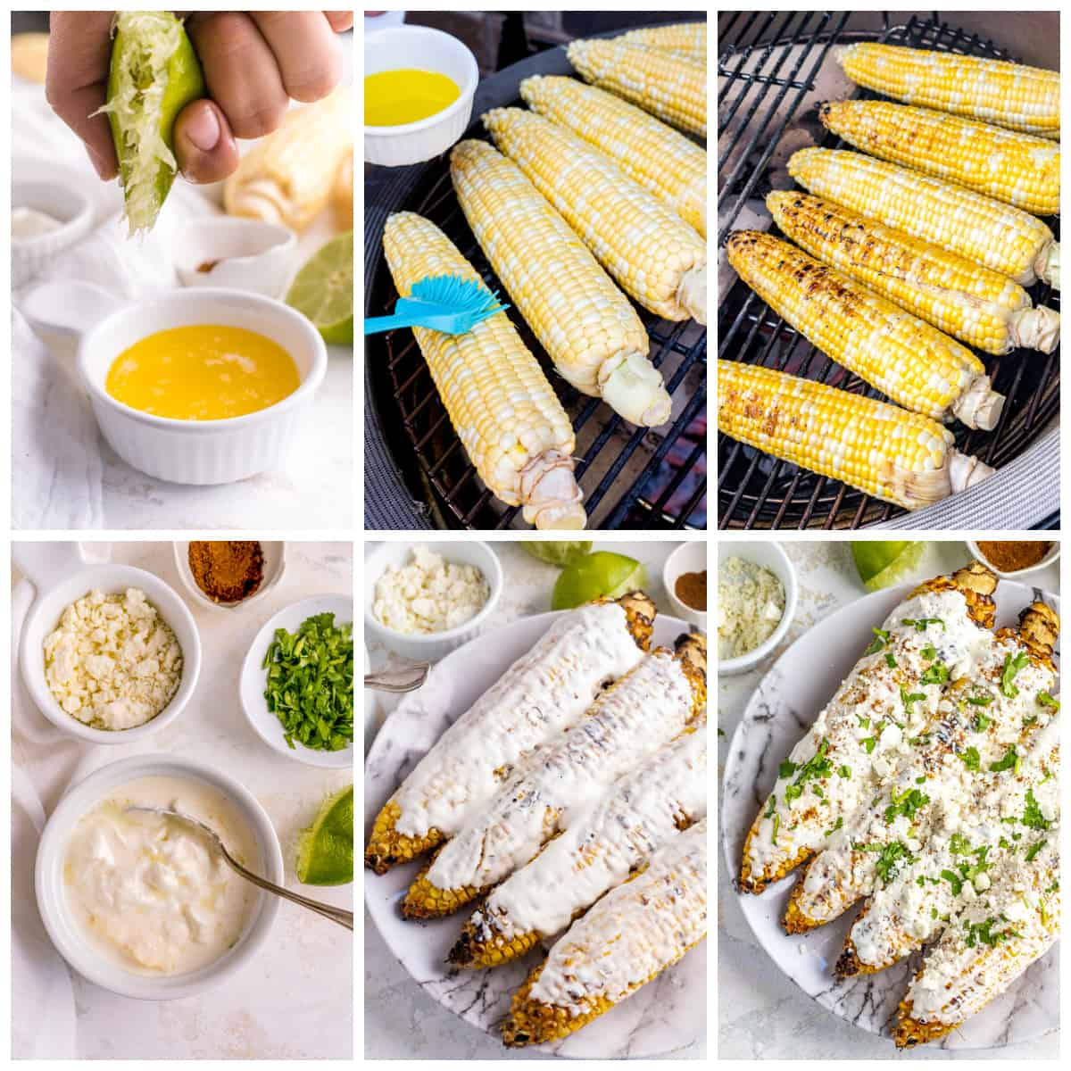Step by step photos no how to make Mexican Street Corn