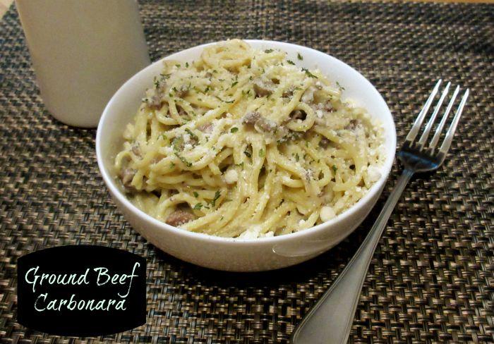 Ground Beef Carbonara 3 tornadoughalli.com