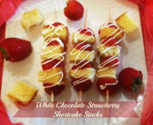 White Chocolate Straweberry Shortcake Stacks