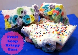 Fruit Loop Krispy Bars