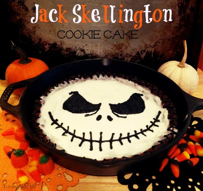 Jack Skellington Cookie Cake 1
