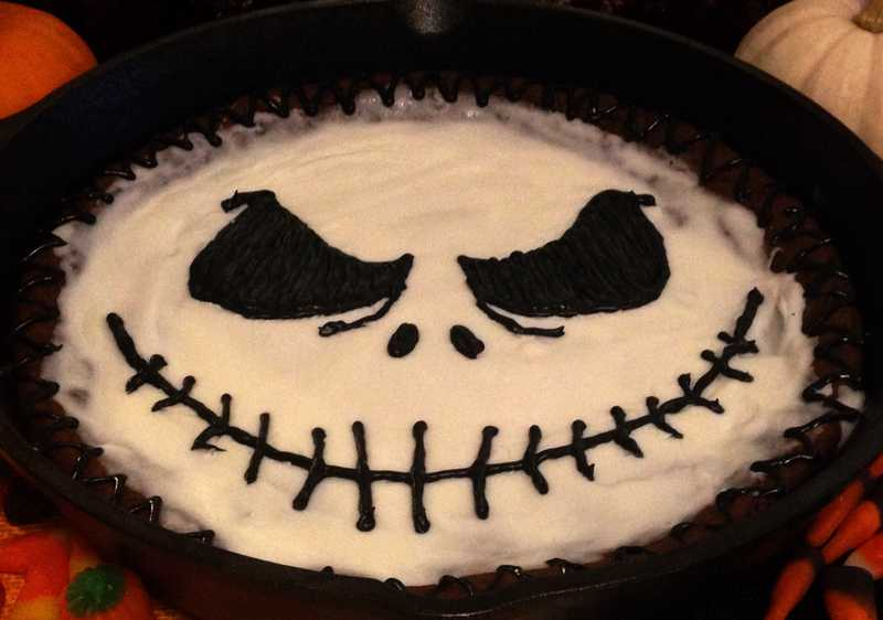 Jack Skellington Cookie Cake 2