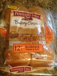 Pepperidge Farm slider buns
