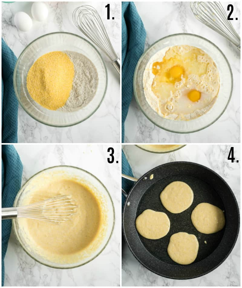 Step by step photos on how to make hoe cakes