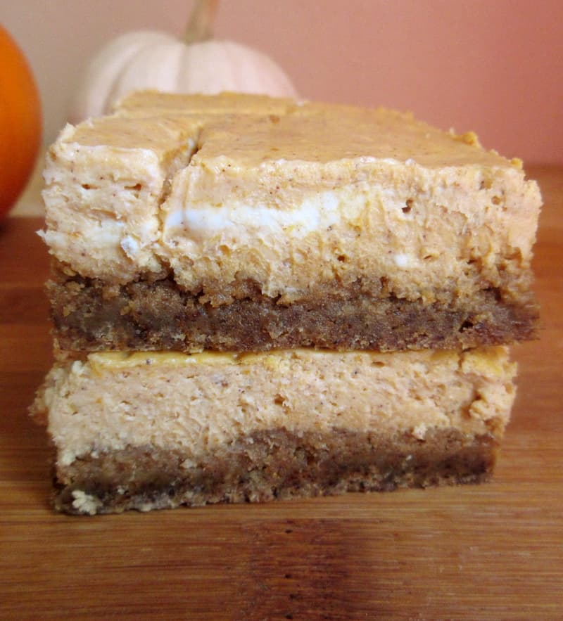 Pumpkin Gingerbread Cheesecake Bars 2