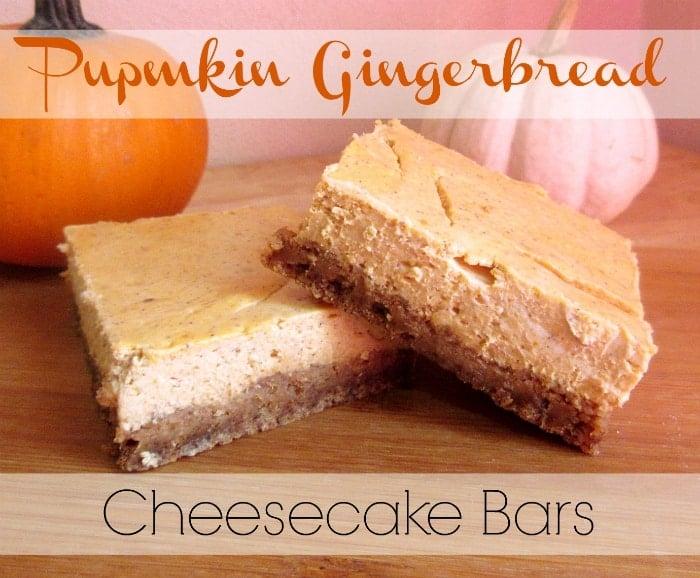 Pumpkin Gingerbread Cheesecake Bars - Tornadough Alli