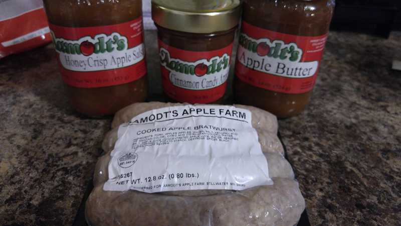 Apple products from Amodt's Apple Farm
