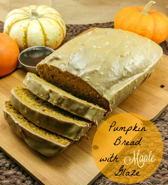 Pumpkin Bread with Maple Glaze
