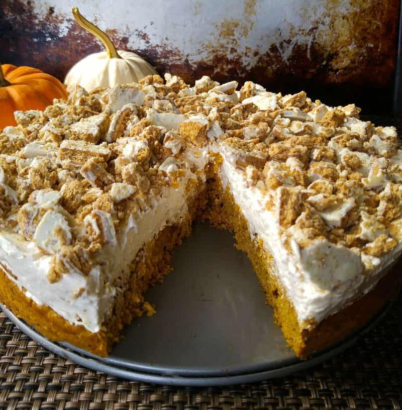 Pumpkin Spice No Bake Cheesecake Cake 2