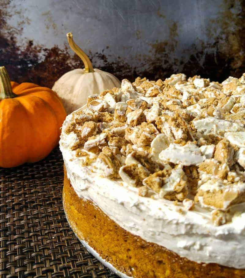 Pumpkin Spice No Bakec Cheesecake Cake 5