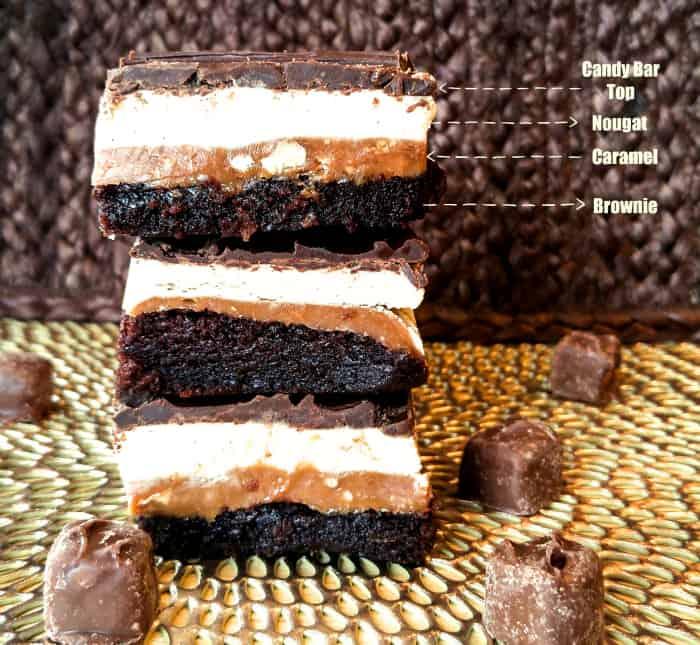 Snickers Brownies Layerd
