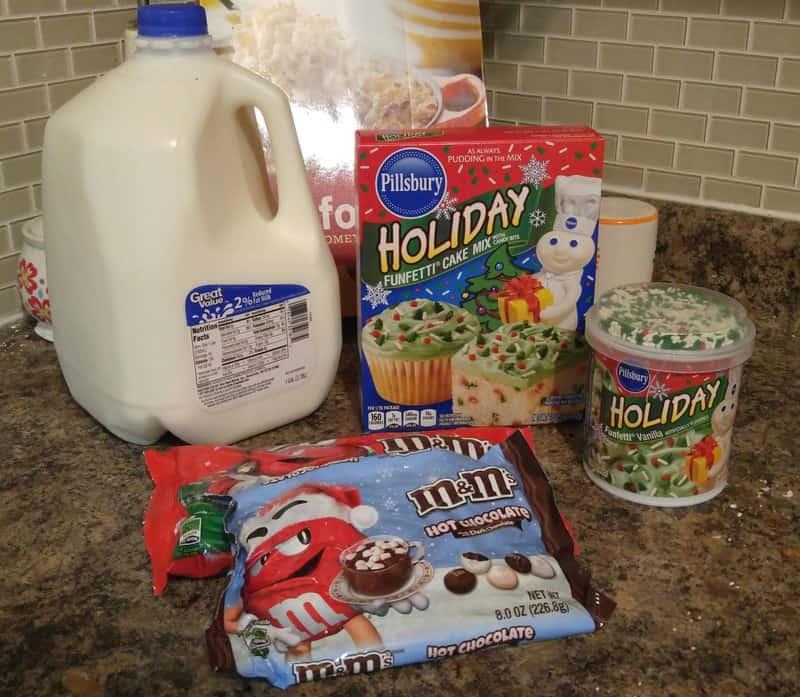Ingredients to make Cookie Cake