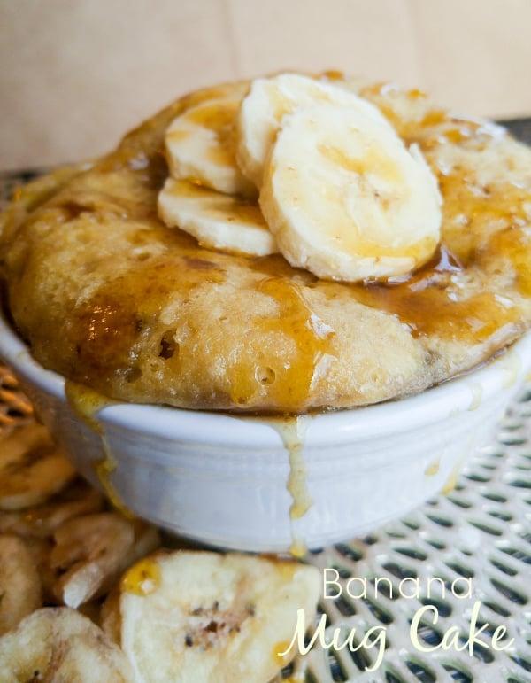 Banana Mug Cake Low Calorie