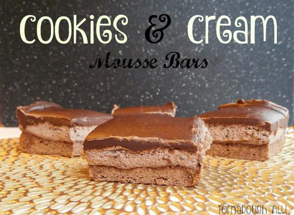 Cookies and Cream Mousse Bars