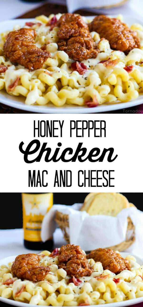 Honey Pepper Chicken Mac and Cheese Collage