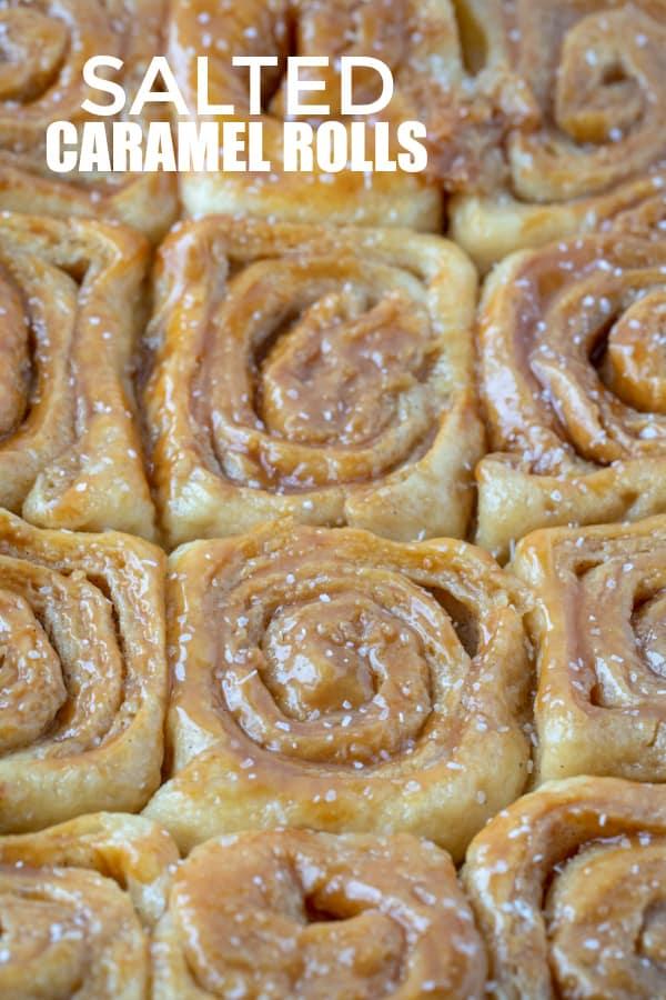 caramel roll Pinterest image