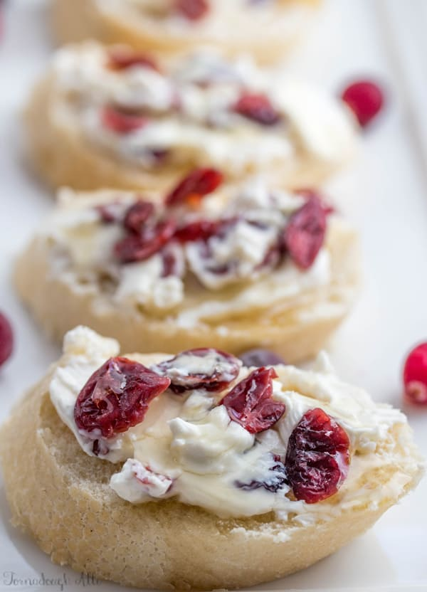 Honey Cranberry Baguette Bites
