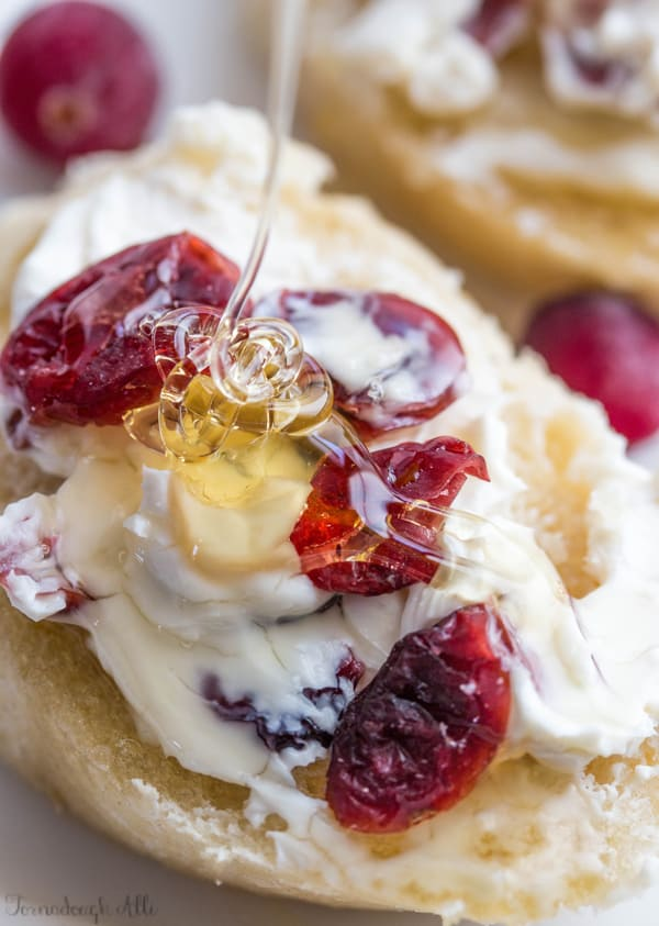Honey Cranberry Baguette Bites