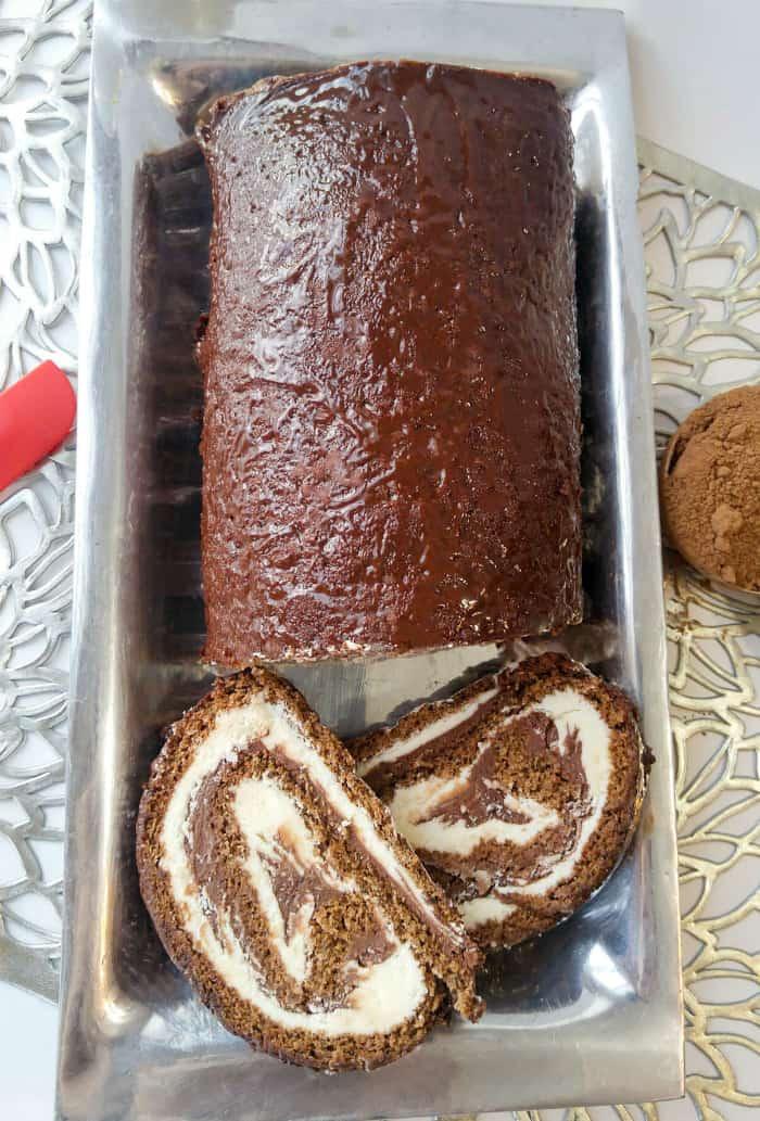 Tuxedo Cake Roll 2