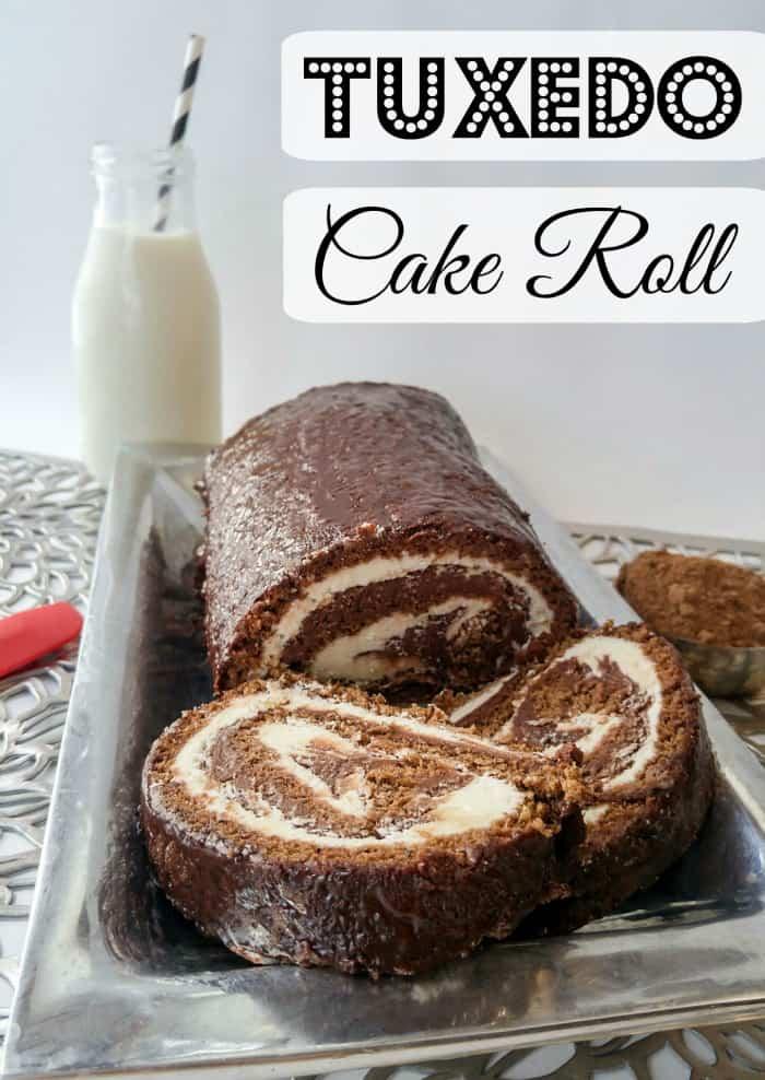 Tuxedo Cake Roll