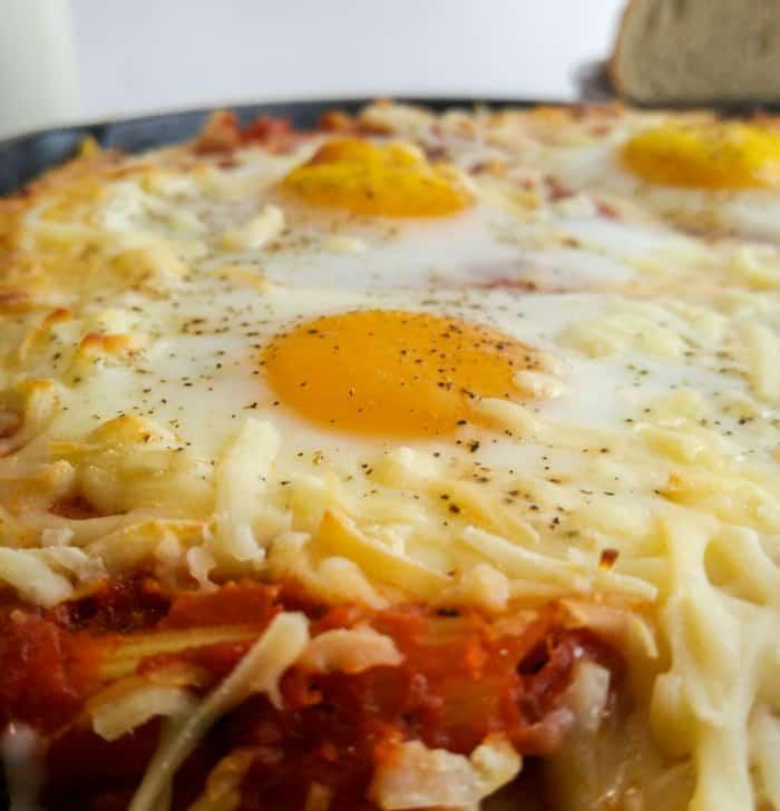 Italian Baked Egg Penne 3