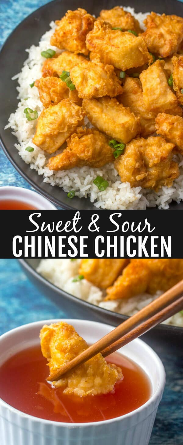 If take-out is what you're craving this Sweet and Sour Chinese Chicken is the perfect, quick and easy, budget-friendly meal to curb fill that need! Homemade, delicious and tasty.