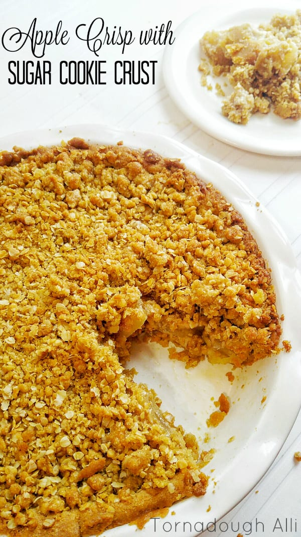 Apple Crisp with Sugar Cookie Crust