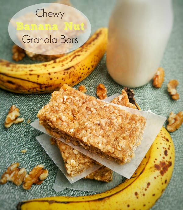 Chewy Banana Nut Granola Bars