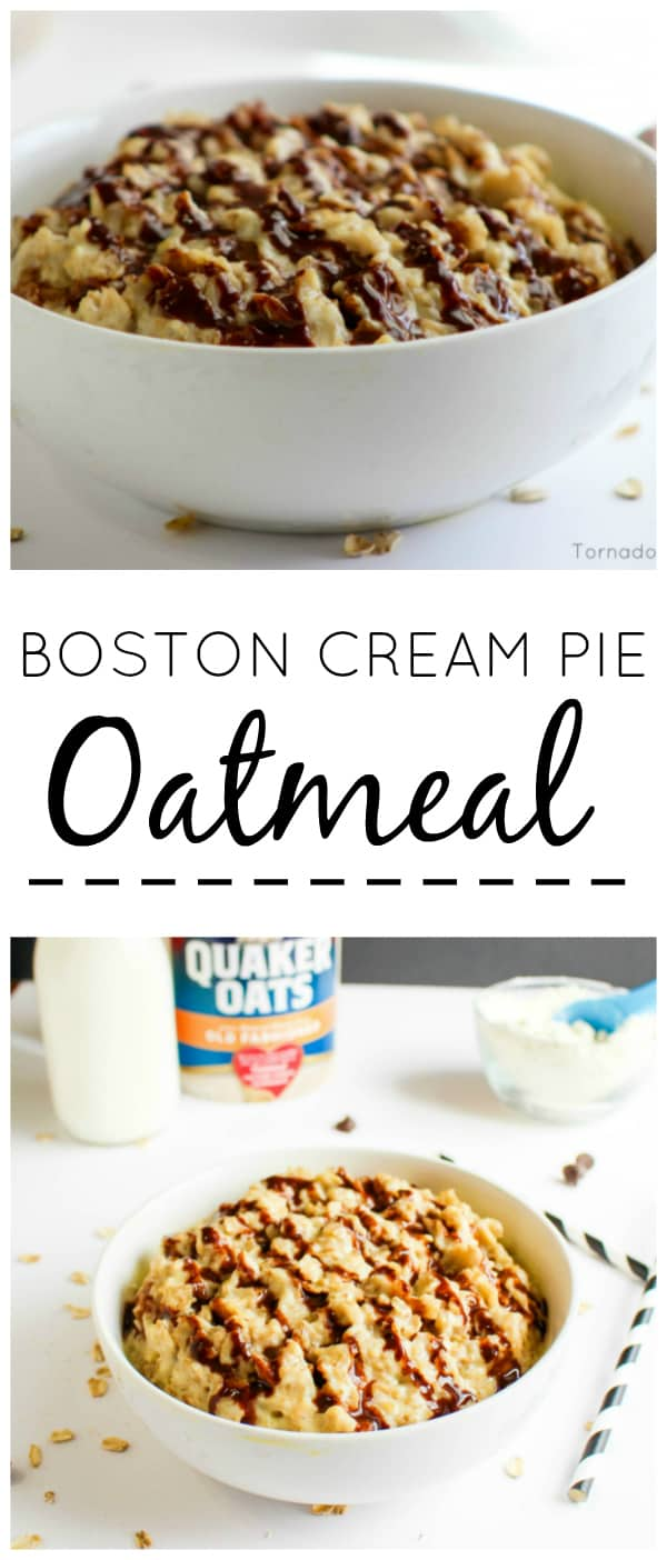 Quaker Boston Cream Pie Oatmeal Collage
