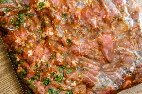 Marinating Carne Asada Meat