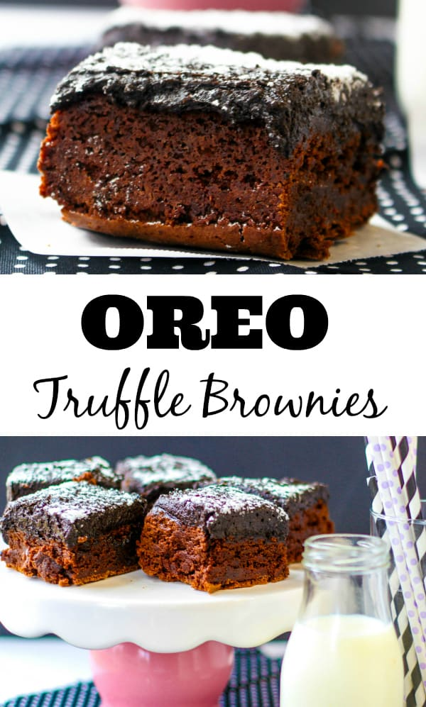 Oreo Truffle Brownies Collage