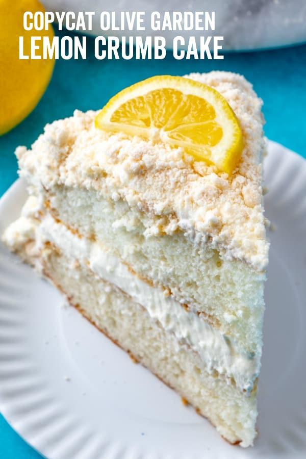 Lemon Crumb Cake Pinterest Image