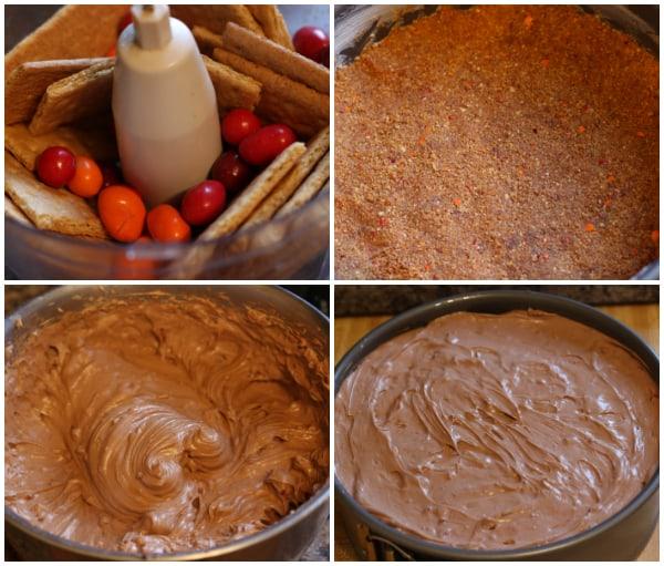 Chocolate Chili Cheesecake Steps