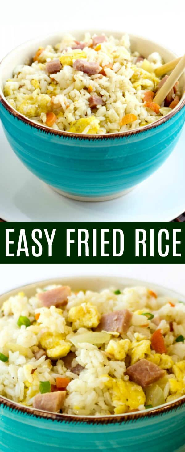 Need a simple easy side dish for those take-out nights? This Easy Fried Rice will have everyone asking for seconds! Fast, easy and adaptable.