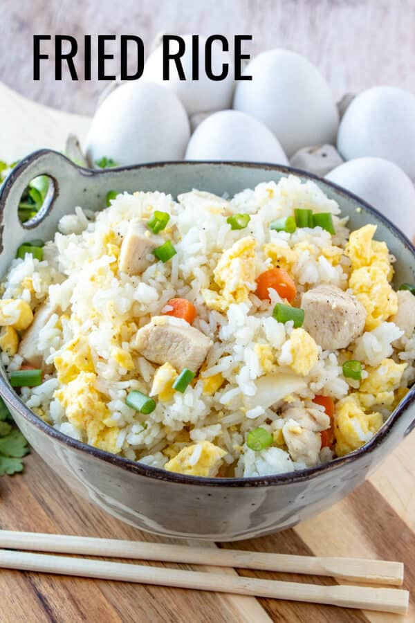Fried Rice Pinterest image