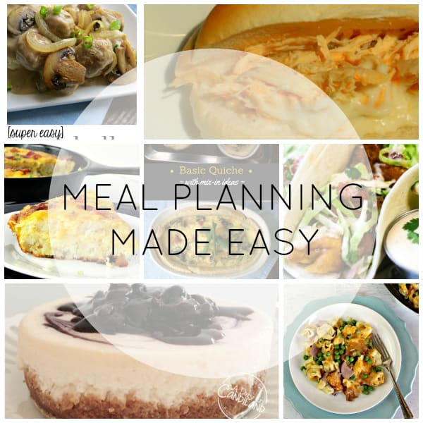 Meal Planning Made Easy Week 1