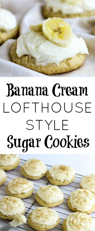 Banana Cream Lofthouse Cookie Collage