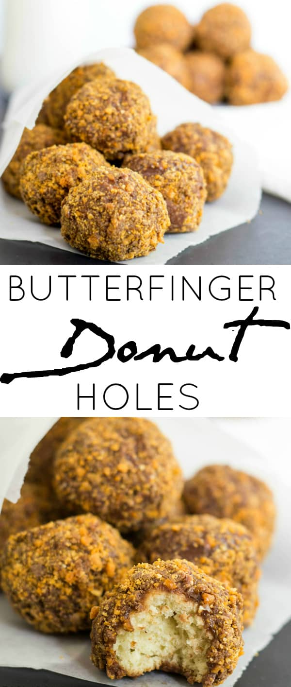 Butterfinger Donut Holes Collage