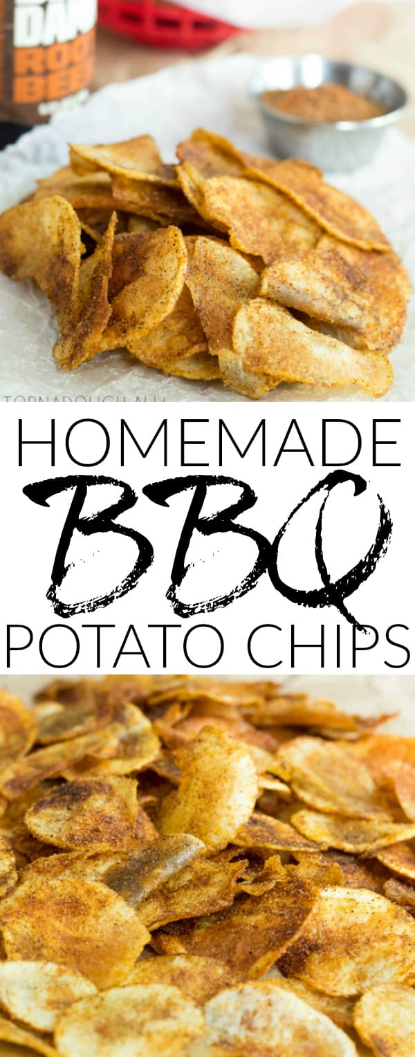 Homemade BBQ Potato Chips Collage