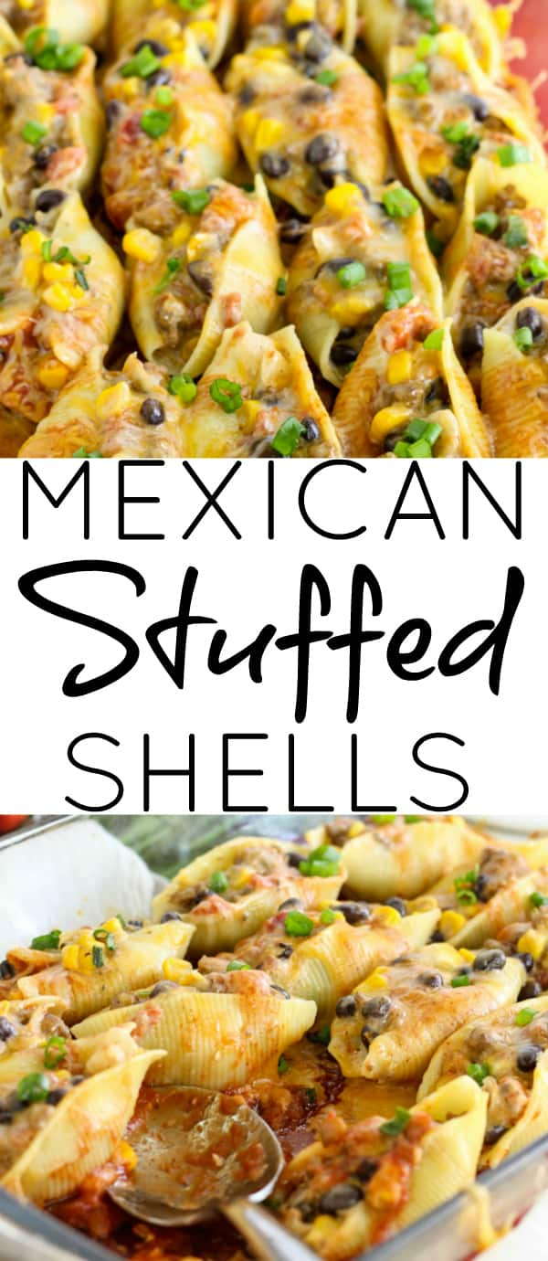 Mexican Stuffed Shell Collage