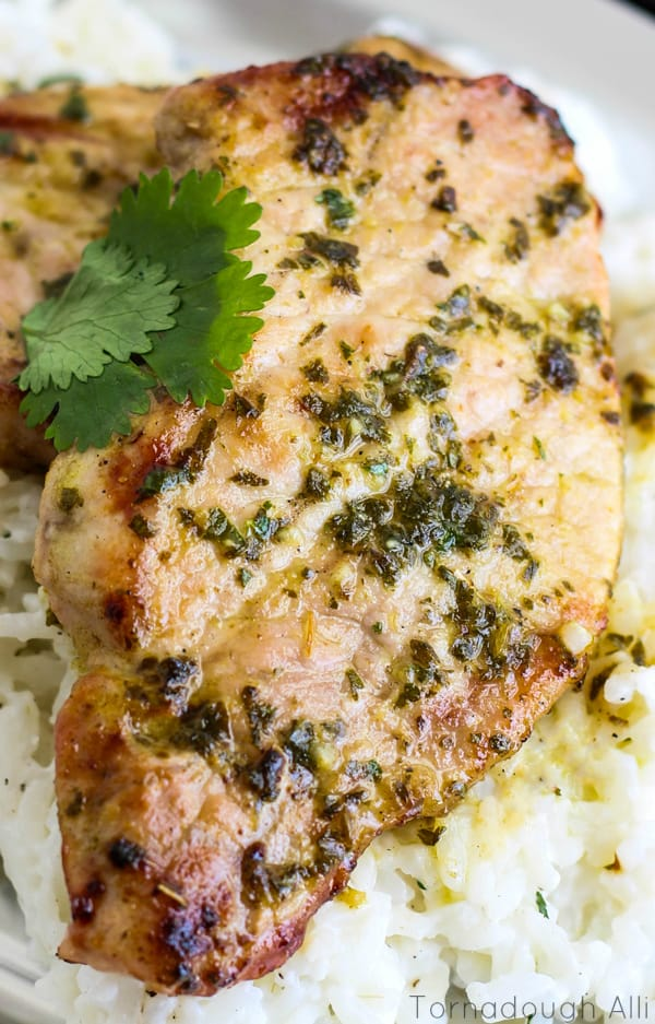 Mojo-Pork-Chop-with-Cilantro-Sour-Cream-Rice1