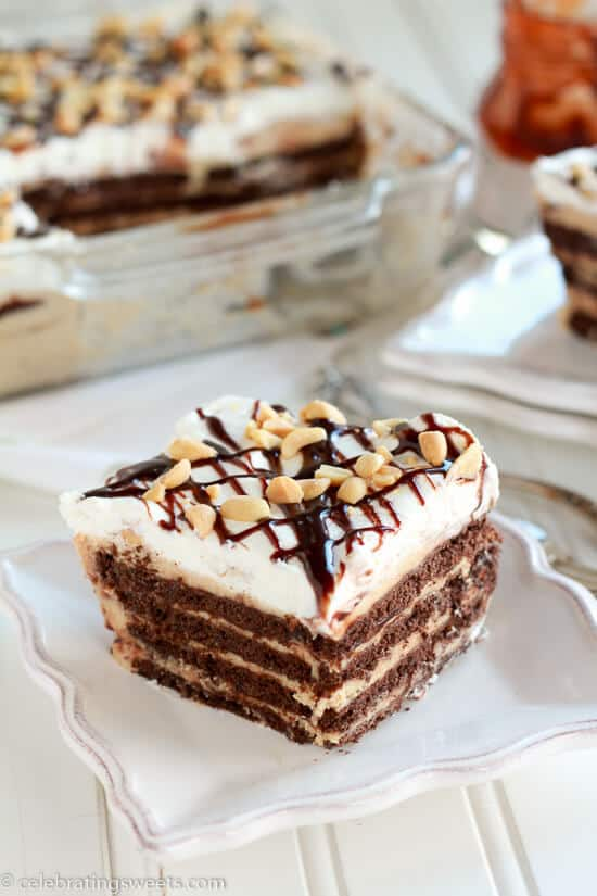 Peanut Butter Fudge Icebox Cake