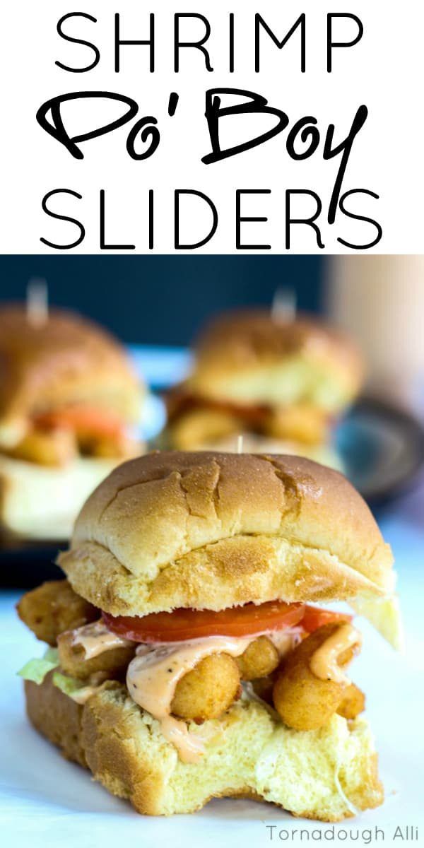 Delicious and easy Shrimp Po' Boy Sliders are a great addition to any weeknight meal.