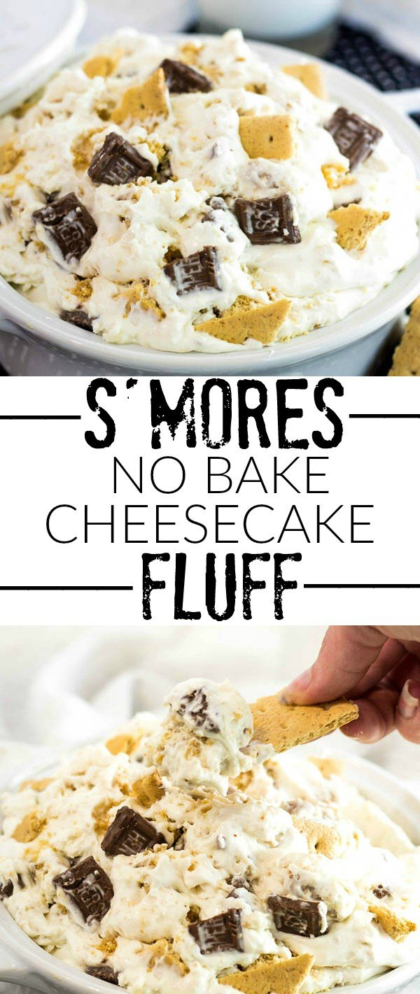 S'mores No Bake Cheesecake Fluff Collage