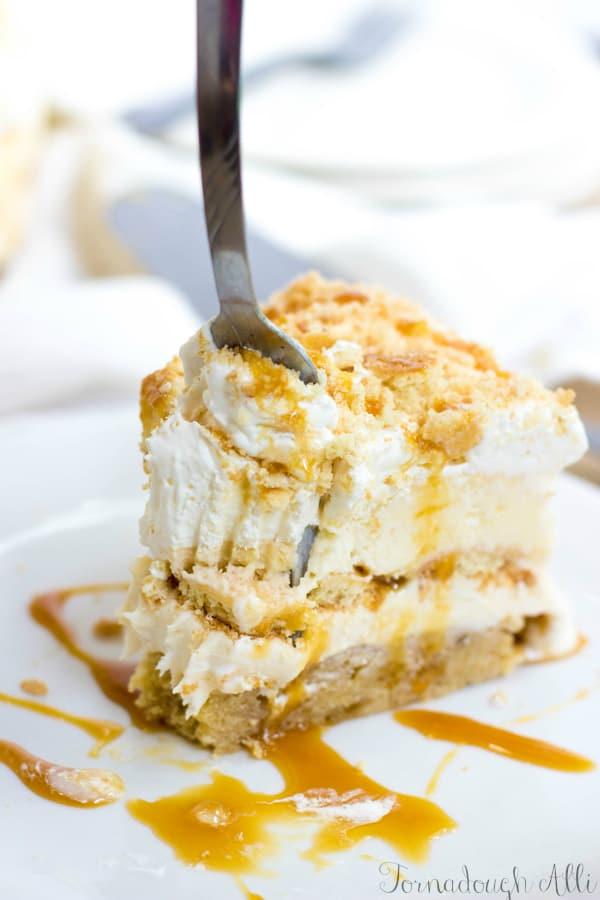 Banana Caramel Ice Cream Cake